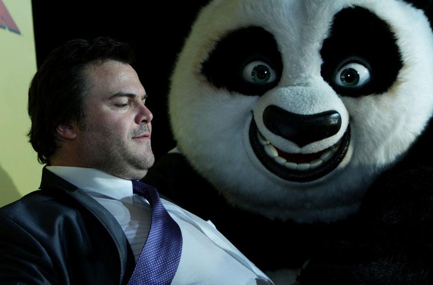 SYDNEY, AUSTRALIA - JUNE 13: Jack Black arrives at the Australian premiere of 'Kung Fu Panda 2' at Event Cinema on George Street on June 13, 2011 in Sydney, Australia. (Photo by Lisa Maree Williams/Getty Images)